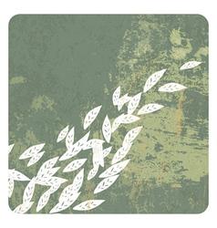 leaves grunge background vector image