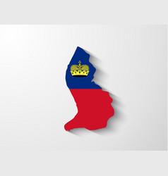 Liechtenstein map with shadow effect vector image