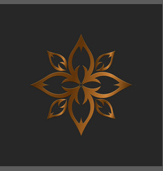 luxury logo lotus logo vector image