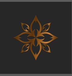 Luxury logo lotus logo vector