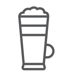 macchiato line icon coffee and cafe cream vector image