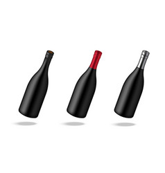 mock up realistic premium wine or champagne vector image