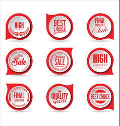 modern badges red collection vector image