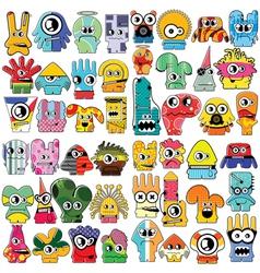 Monsters - set vector image