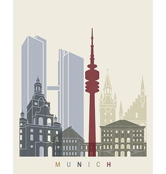 Munich skyline poster vector