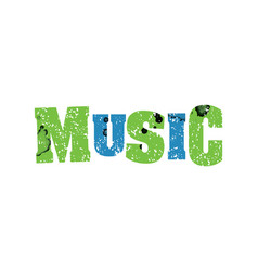 Music concept colorful stamped word vector
