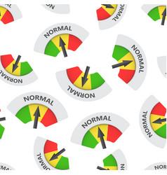 Normal level risk gauge seamless pattern vector
