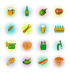 Oktoberfest set icons vector