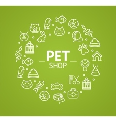Pet Shop Concept vector image