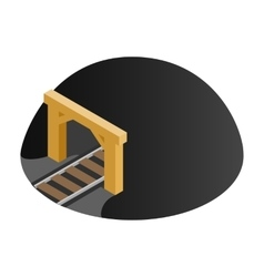 Railway tunnel 3d isometric icon vector