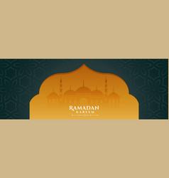 Ramadan kareem banner in islamic style vector
