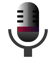 retro microphone on a white background vector image