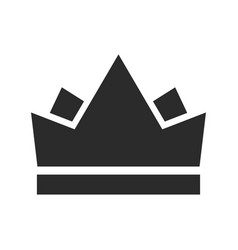 royal crown black icon emperor and monarch symbol vector image