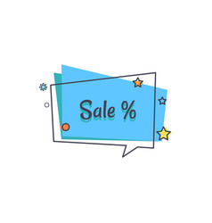 Sale banner in square speech bubble star vector