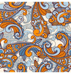 Seamless paisley pattern vector