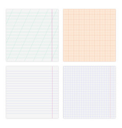 set various paper sheets isolated on white vector image