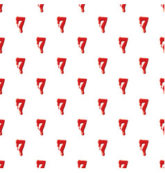 Seven number isolated on white background vector