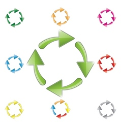 signs recycling arrows vector image