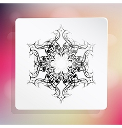 snowflake as design element vector image