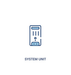 System unit concept 2 colored icon simple line vector