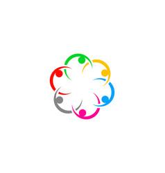 teamwork management people group logo vector image
