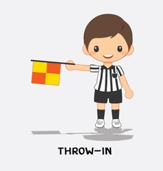 throw in flag signals vector image