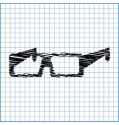 Tie icon with pen effect on paper vector