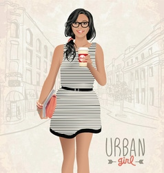 Urban girl vector image