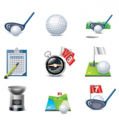 vector golf icon set vector image