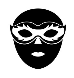 Venice mask icon vector
