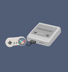 Vintage video game platform with controller vector