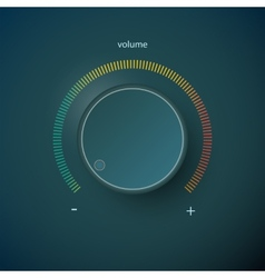 Volume control vector image