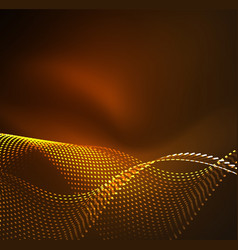 wave particles background vector image