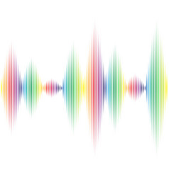 white color voice signal vector image