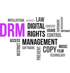 Word cloud drm vector