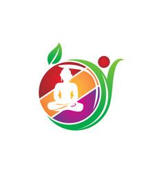 Yoga health juice bar vector