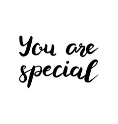 you are special text brush calligraphy vector image