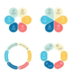 Circular infographics with 6 sections vector