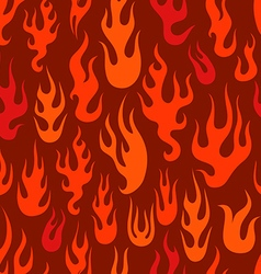 Different abstract flame silhouettes seamless vector image vector image