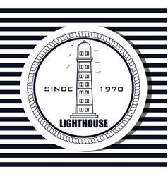 Lighthouse sea life icon design vector