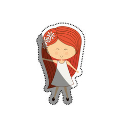 woman cute cartoon vector image vector image