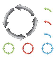 circular arrows vector image vector image