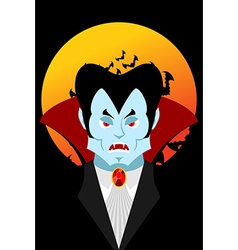 Count Dracula and moon Evil vampire Aggressive vector image vector image