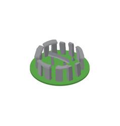 isolated stonehenge isometric england vector image vector image