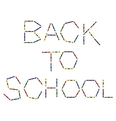 Large Colored Crayons Forming Back to School vector image vector image