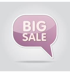 text bubble BIG SALE vector image