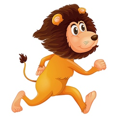 A running lion vector image