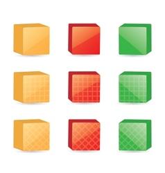 color cubes vector image