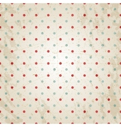 Grunge vintage paper texture red and blue dots vector image vector image