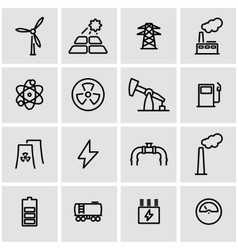 line energetics icon set vector image